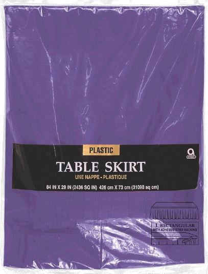 Purple Plastic Table Skirt by Amscan