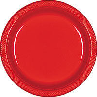 "Red 9"" Plastic Plates 20 Ct"