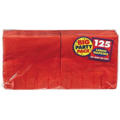 Apple Red Big Party Pack Lunch Napkins 125ct