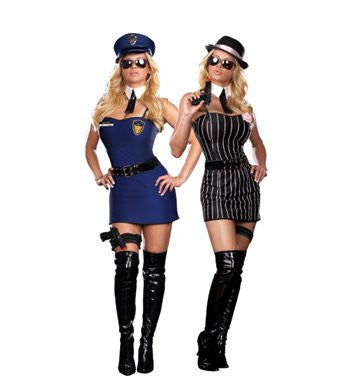 The Dirty Double - Women's Sexy Adult Reversible Cop and Gangster Costume