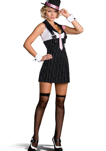 Dirty Sexy Money Women's Sexy Adult Gangster Costume