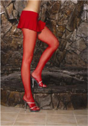 Fishnet Pantyhose Queen - Red