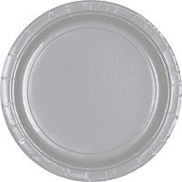 "Silver Paper Dinner Plates 10.25"" 20Ct"