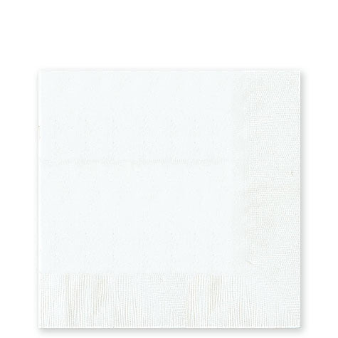 White Lunch Napkins 50Ct