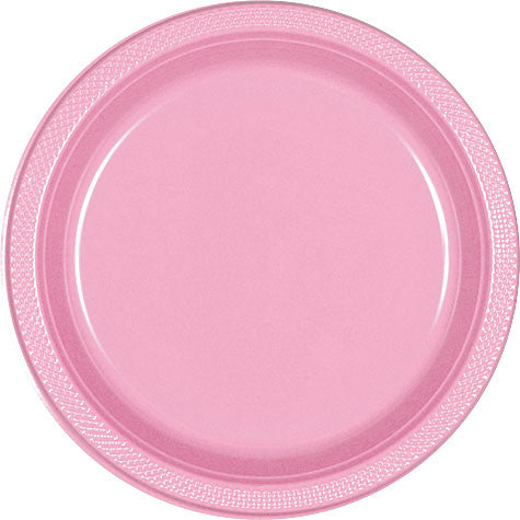 "New Pink 9"" Plastic Dinner Plates (20 Ct.)"