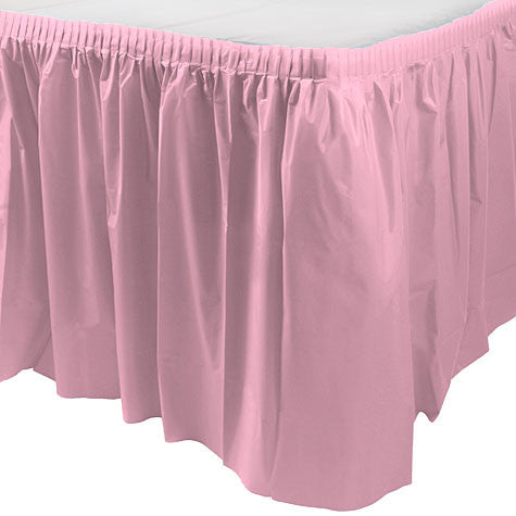 "New Pink Plastic Table Skirt (29"" x 168"")"