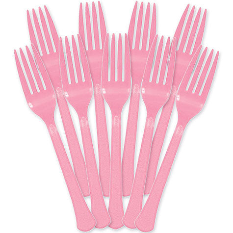 New Pink Heavy Duty Forks (48 Ct.)