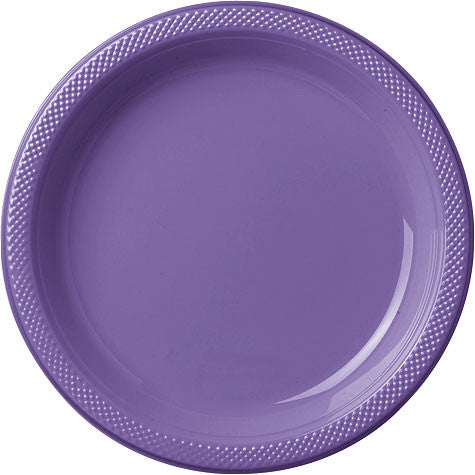 "Purple 9"" Plastic Plate 20 Ct"
