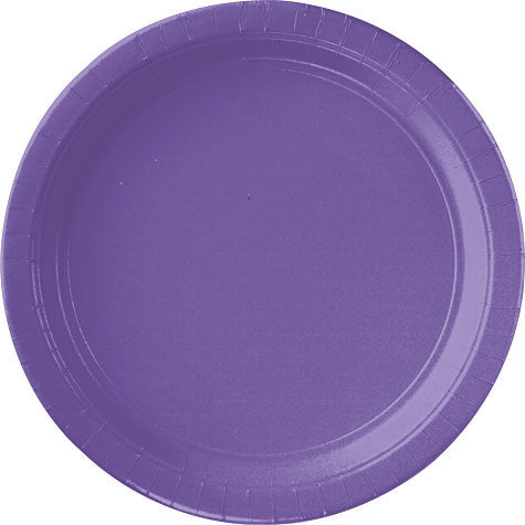 "Purple Paper Dinner Plates 10. 1/2"" 20Ct"