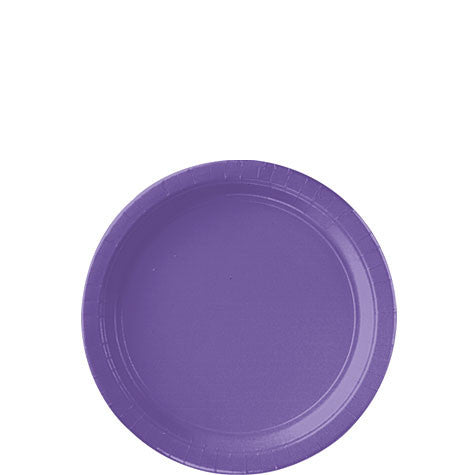 "Purple 7"" Dessert Paper Plates 20Ct"