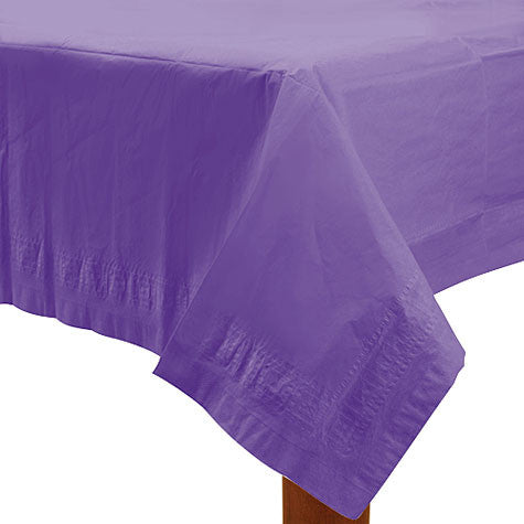 Purple 54In X 108In Paper Table Cover