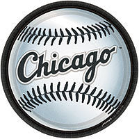 "9"" Plates Chicago White Sox 18Ct"