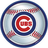 "9"" Plate Chicago Cubs 18Ct"