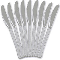 Silver Heavy Duty Knives 48Ct