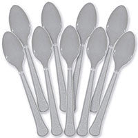 Silver Heavy Duty Spoons 48Ct