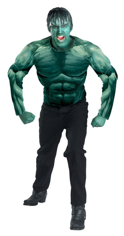 The Hulk - Men's Muscle Movie Costume With Headpiece