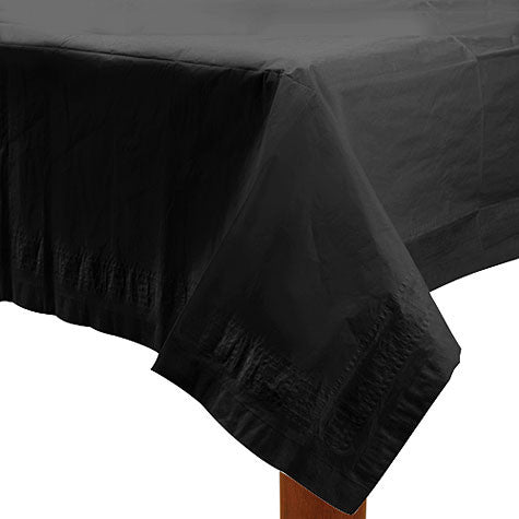 Black 54In X 108In Paper Table Cover