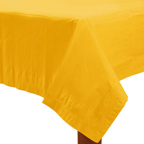 Yellow Sunshine 54In X 108In Paper Table Cover