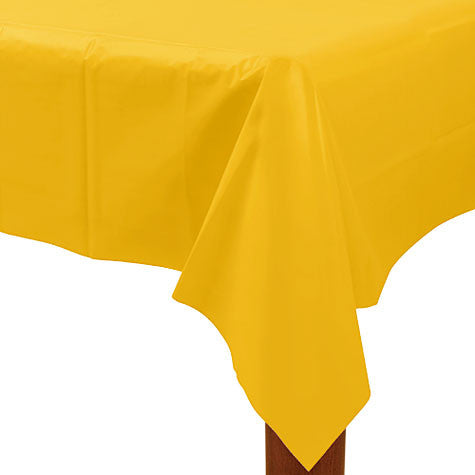 Yellow Sunshine 54In X 108In Plastic Table Cover