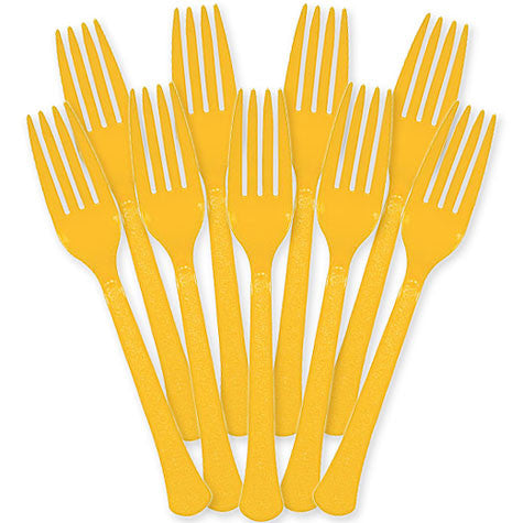 Yellow Sunshine Heavy Duty Forks 48Ct