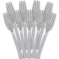 Silver Heavy Duty Forks 48Ct