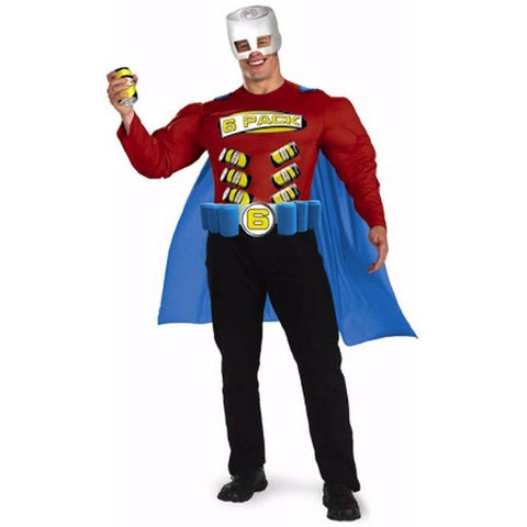 Super 6-Pack Man - Men's Muscle Costume