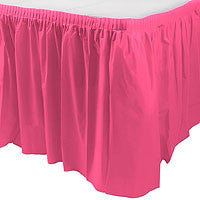 Bright Pink 29In X 168In Plastic Table Skirt