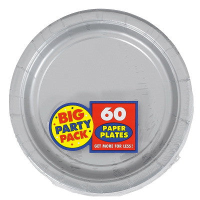 "Silver Big Party Pack Dessert 7"" Plates 50ct"