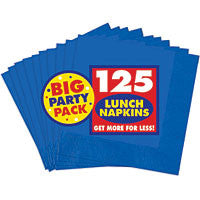 Bright Royal Blue Lunch Napkins 125ct