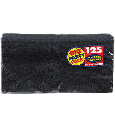 Black Big Party Pack - Beverage Napkins