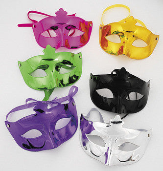 Plastic Metallic 1/2  Mask Asst.