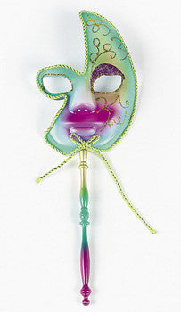 Plastic Mardi Gras Drama Mask On Stick