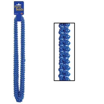 Mardi Gras Party Beads 12Ct Blue