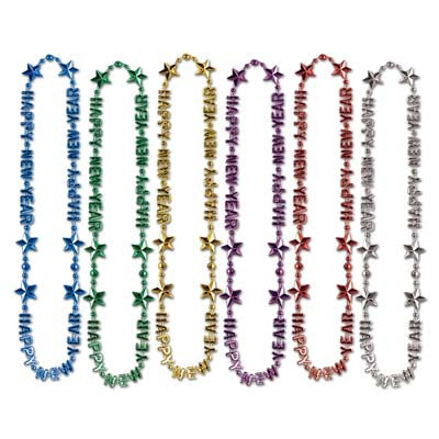 "Happy New Year Beads-Of-Expression 36"" (1/Card)"
