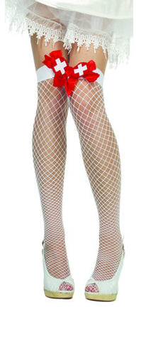 Nurse Fence Net Thigh Highs