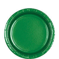 "Festive Green 9"" Paper Lunch Plates 20Ct"