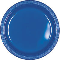 "Bright Royal Blue 10.25"" Plastic Dinner Plates 20Ct"