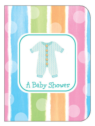 Baby Clothes Invite 8Ct