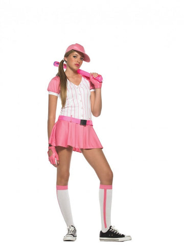 All-Star Baseball Player - Teen Girl's Complete Costume