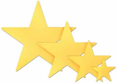 "Gold Foil Star 9"" Cutout"