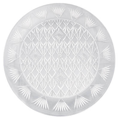 "Chip N Dip Round Tray 16 3/8"" Clear"