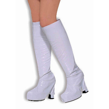 70's Go-Go Boot Top Covers White