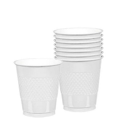 White Plastic 12Oz Cups 20Ct