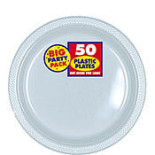 "Clear 7"" Plastic Plates 50Ct"