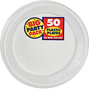 "Clear 10"" Plastic Plates 50Ct"