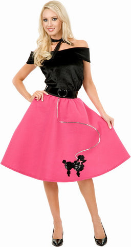 Poodle Skirt, Top & Scarf Adult Plus Costume