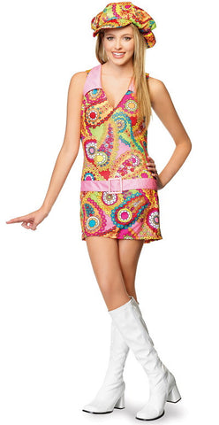 Jr. Groovy Hippie - Teen Girl's Costume (Medium/Large)