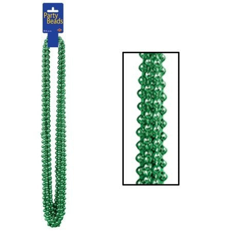 Green Party Beads 12ct