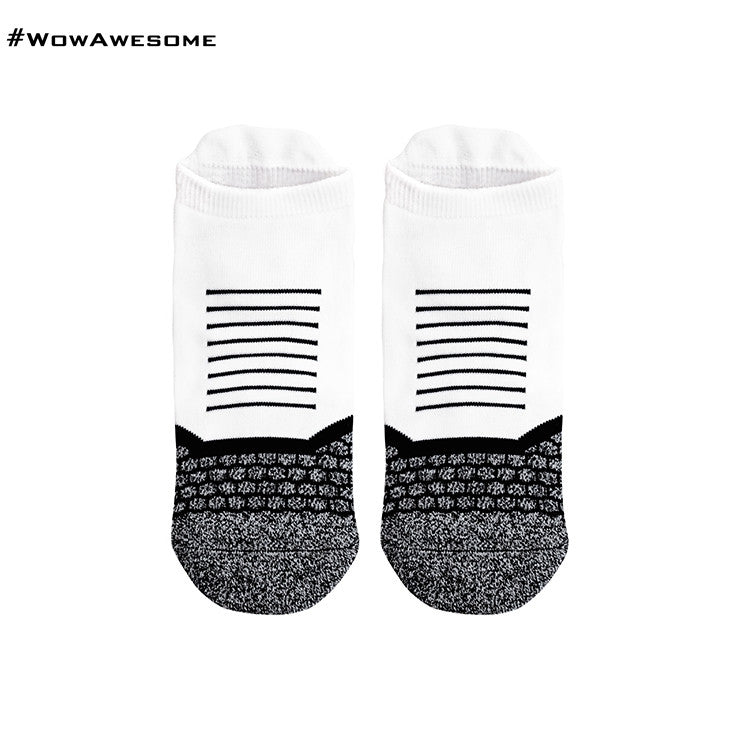 2 MadMatch Design MMD Sporty Black Stripes Womens Mens Sports Boot Ankle Socks for Men Women - WowAwesomeStuff  - 5