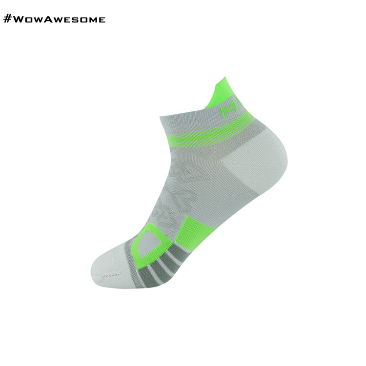 MadMatch Design MMD White Green Womens Mens Sports Boot Ankle Socks for Men Women - WowAwesomeStuff  - 12